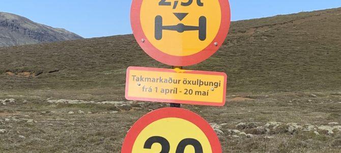Þungatakmarkanir taka gildi 1. apríl og gilda til 20. maí 2020