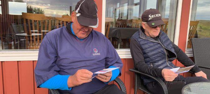 """Undirbúnings golfmót fyrir """"Golfmót Kerhraunara 2020"""" haldið 30. ágúst 2019"""